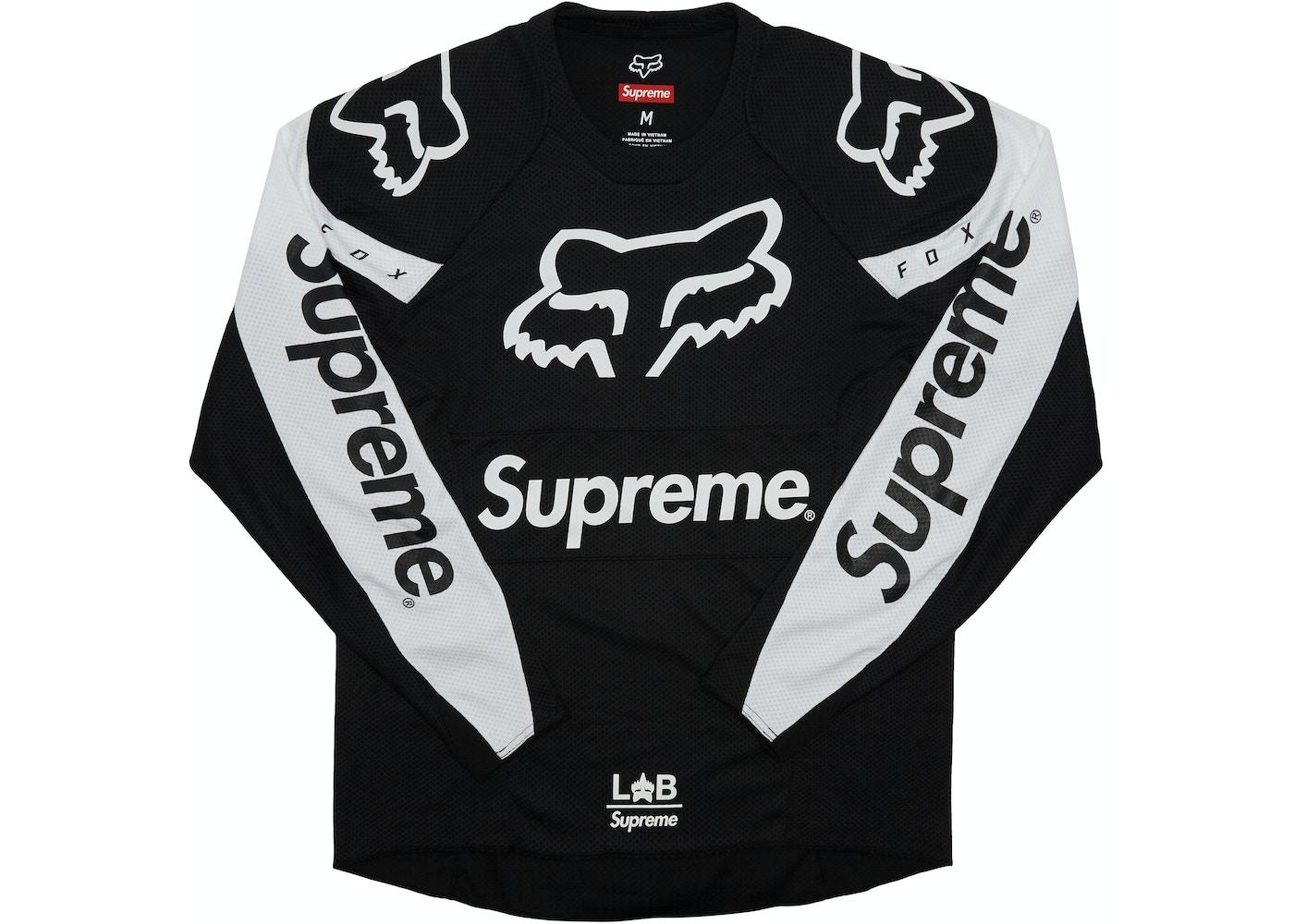 39bcf26f39f Supreme Fox Racing Moto Jersey Top Black - SS18