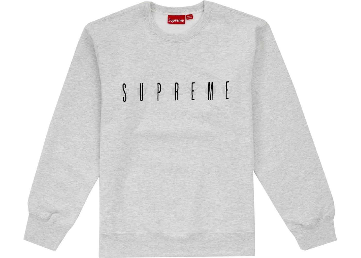 Supreme Fuck You Crewneck Ash Grey by Stock X