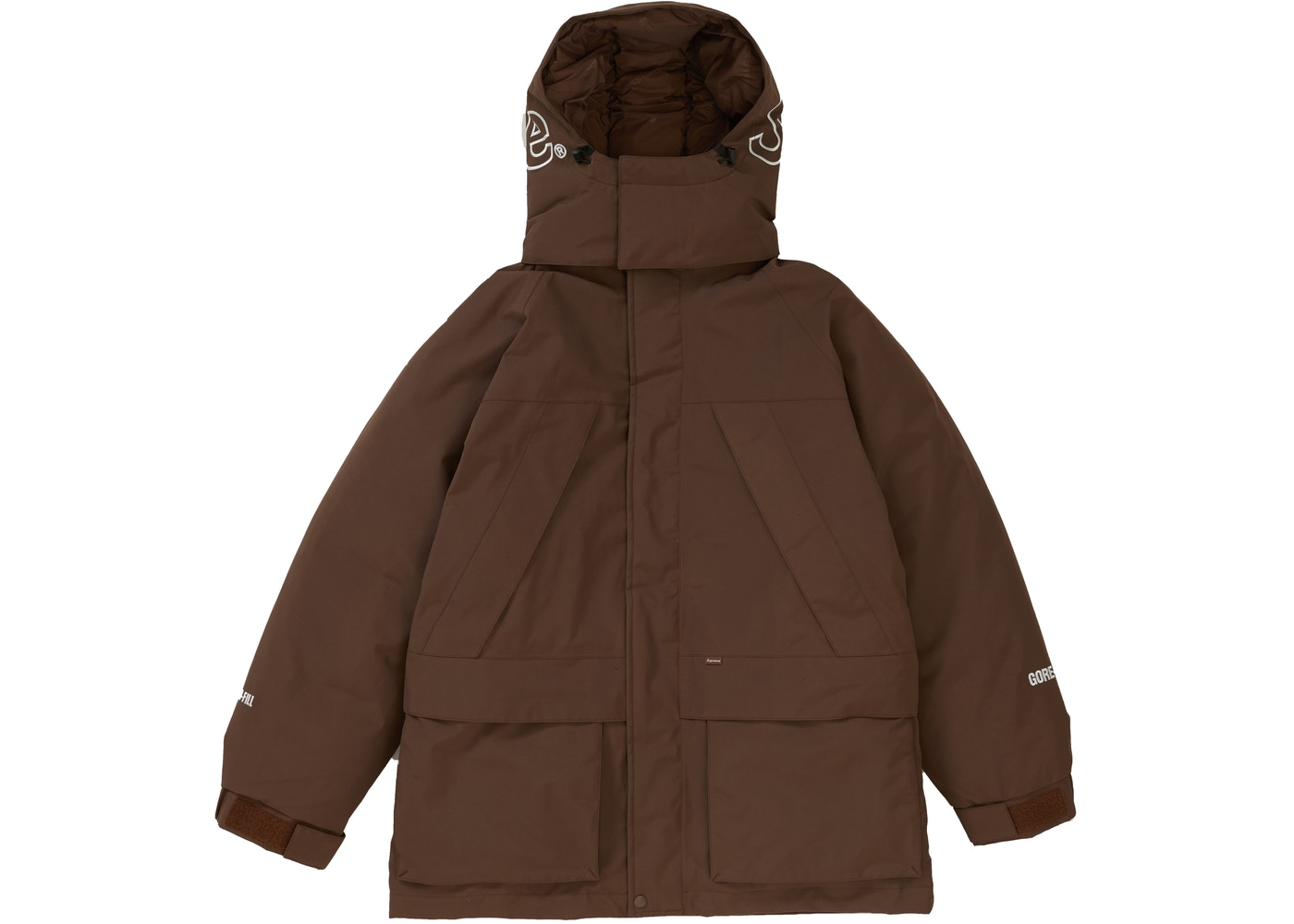 Supreme GORE TEX 700 Fill Down Parka Brown