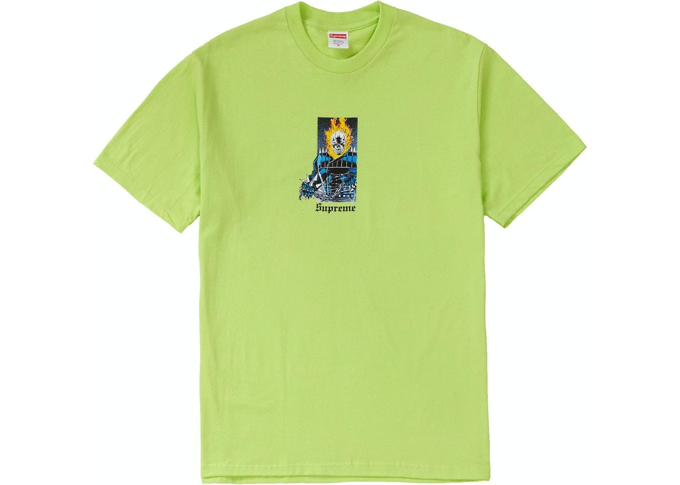 7d2e5260 Supreme Ghost Rider Tee Neon Green - SS19