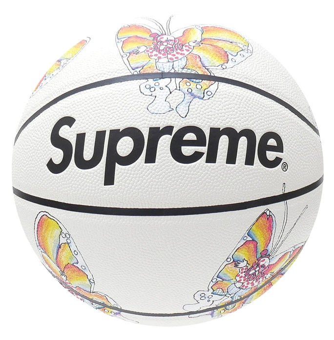 Supreme Gonz Butterfly Spalding Basketball White