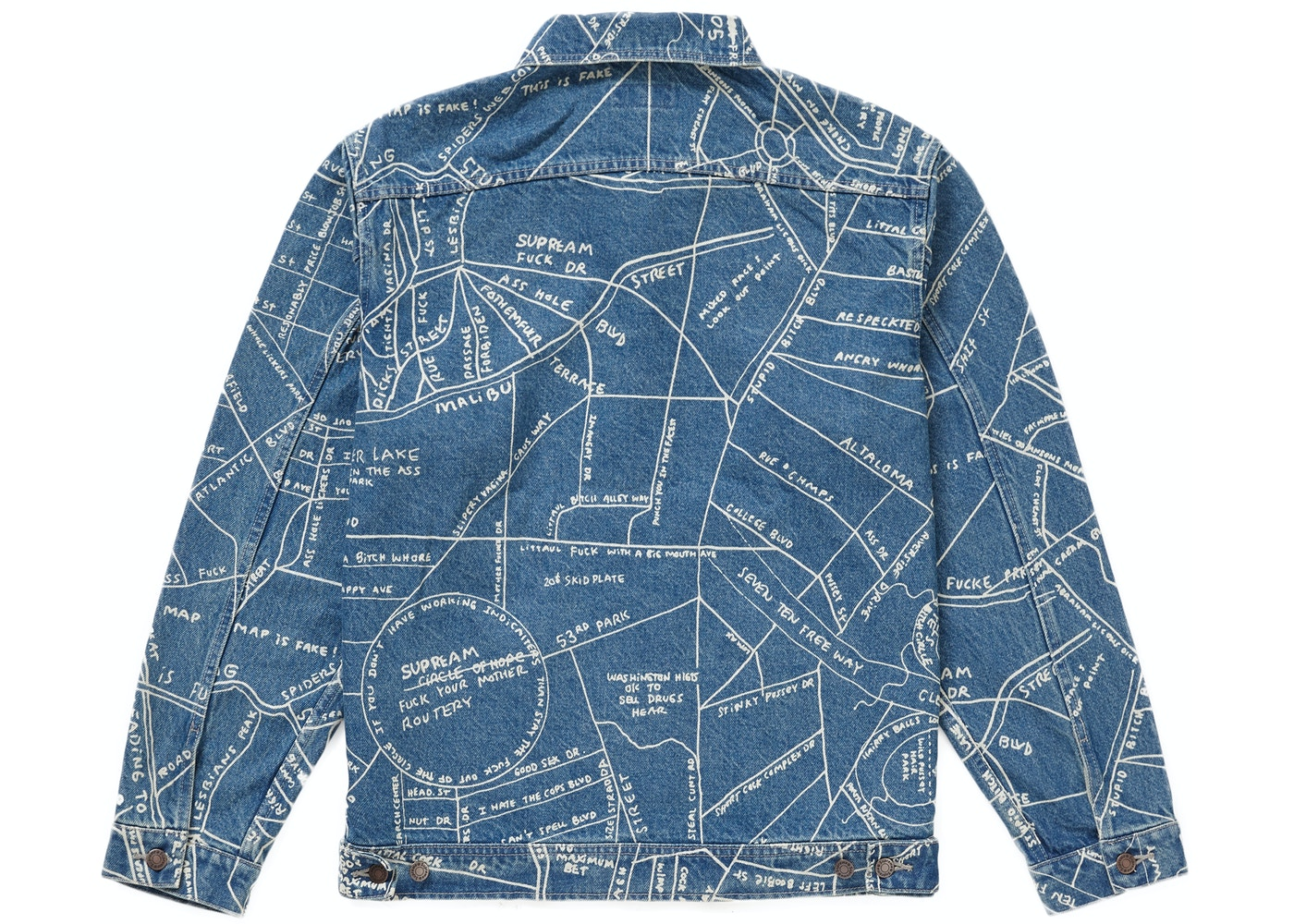 Supreme Gonz Map Work Jacket Washed Blue - SS19 on