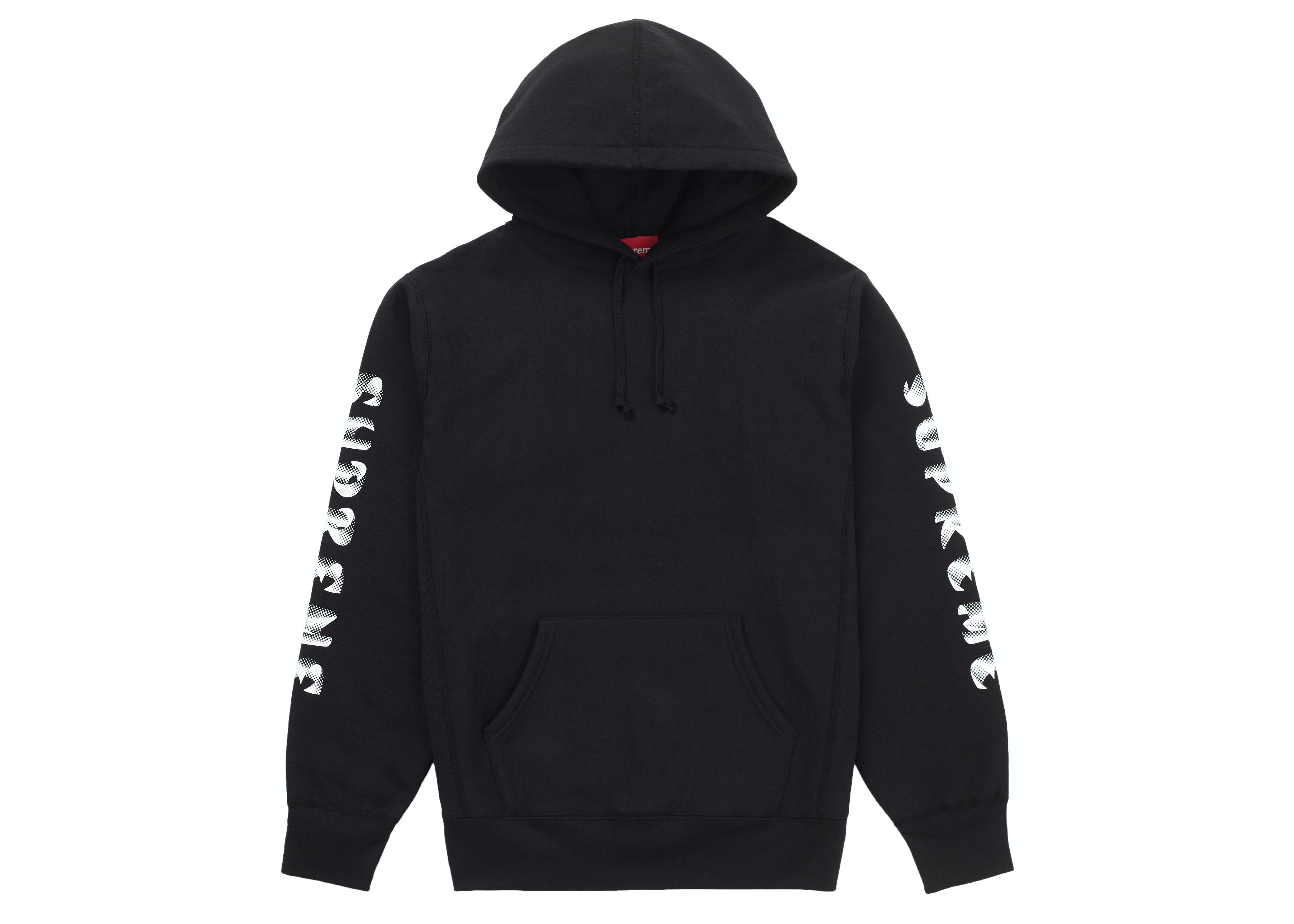 Supreme Gradient Sleeve Hooded Sweatshirt Black