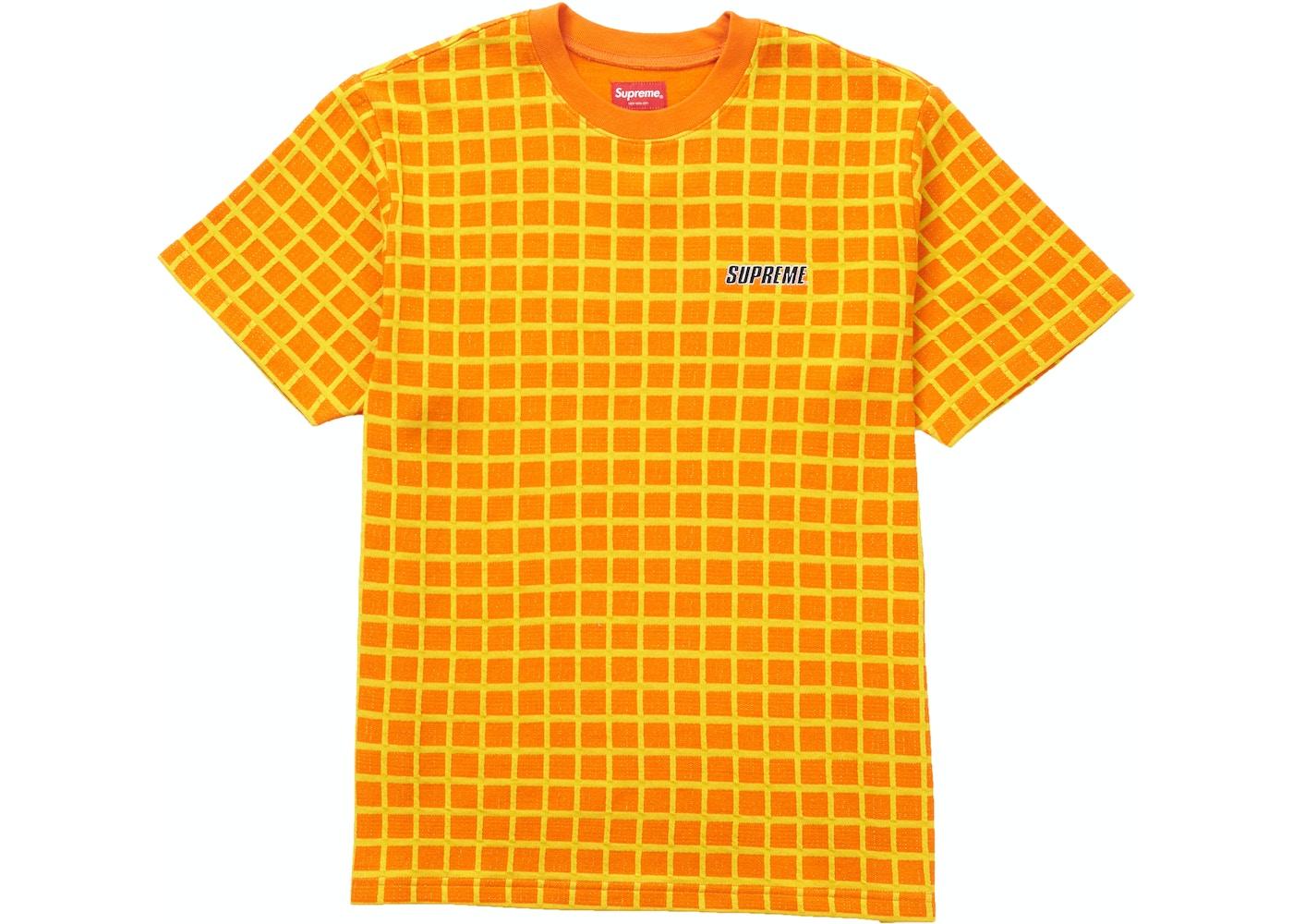 7d8ab82a Supreme Grid Jacquard S/S Top Orange - SS19