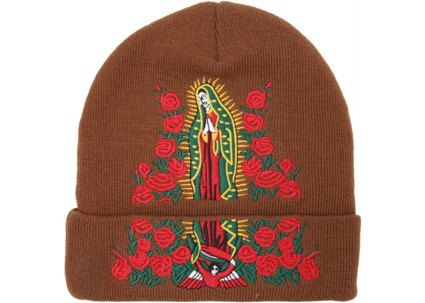 331fdb8fe Supreme Guadalupe Beanie Brown