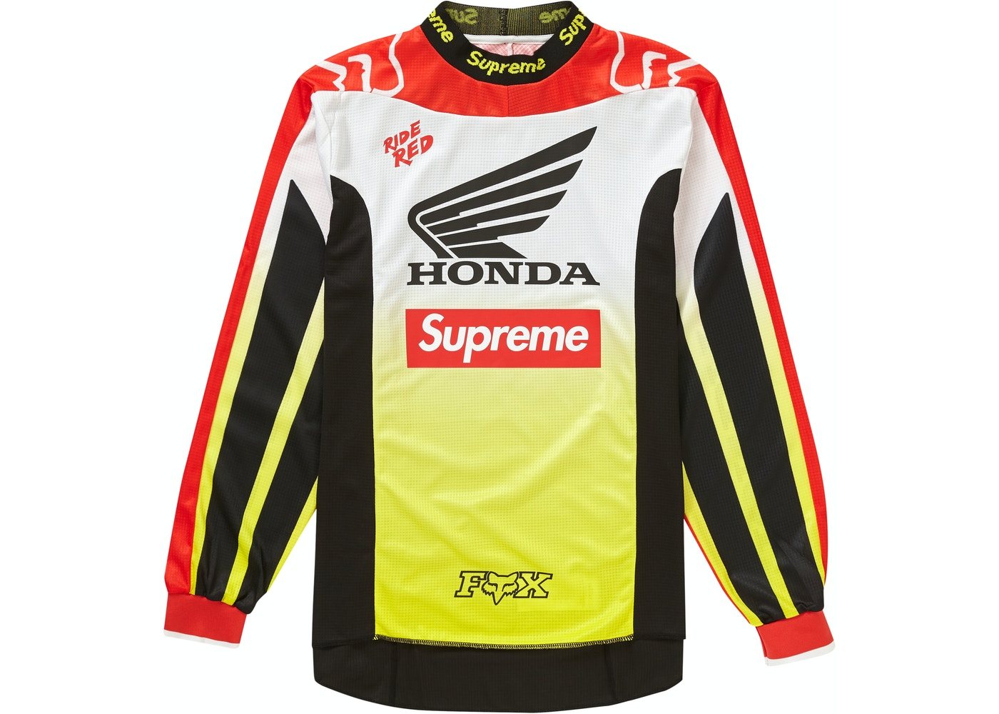 new products quality cheap for sale Supreme Honda Fox Racing Moto Jersey Top Red - FW19