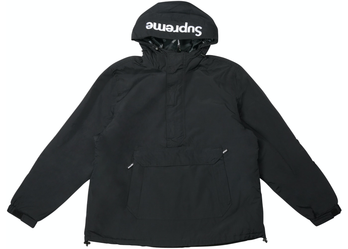 Sell. or Ask. Size M. View All Bids. Supreme Hooded Logo Half Zip Pullover  Black ccbe2c01b