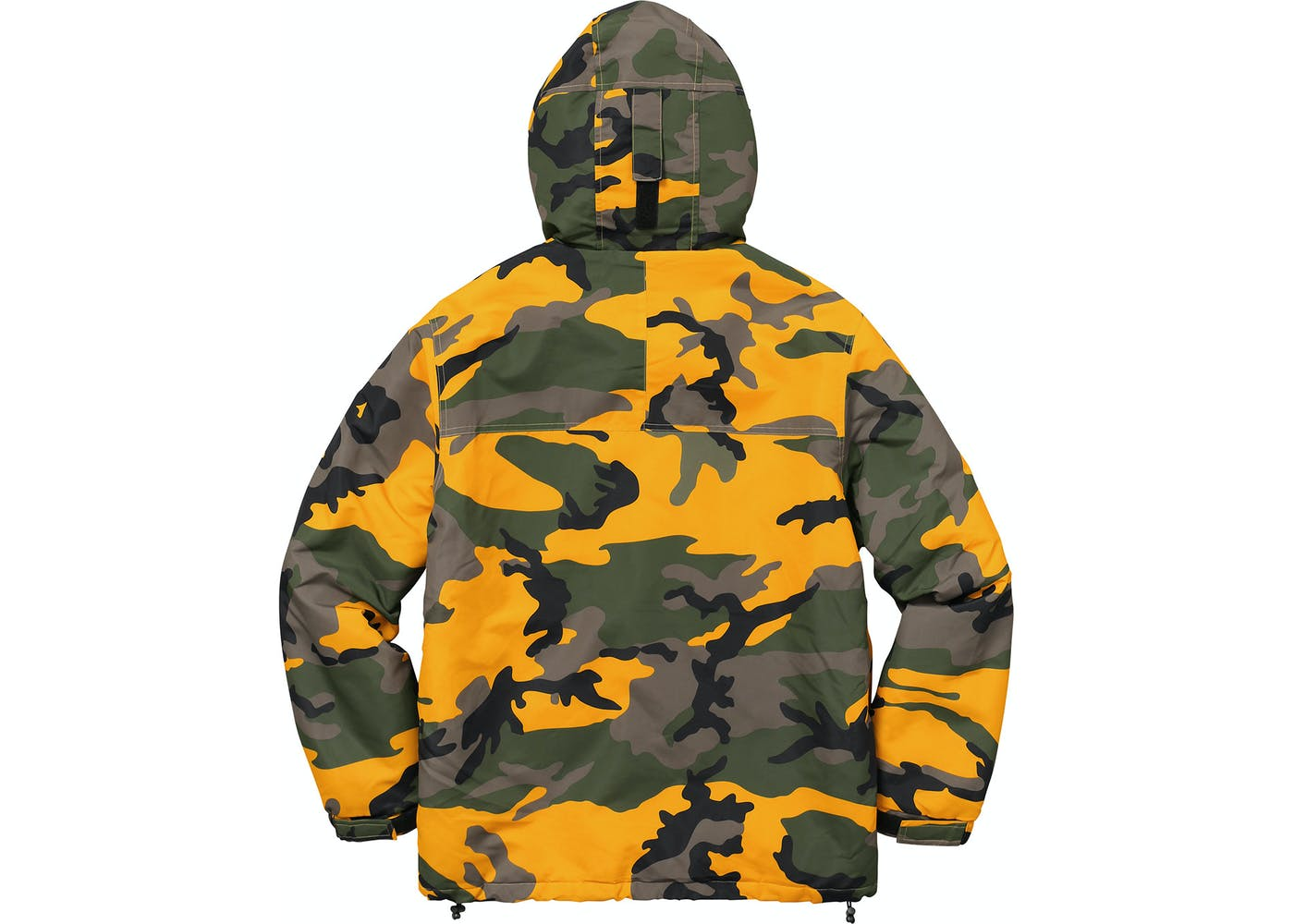 Supreme Hooded Logo Half Zip Pullover Yellow Camo