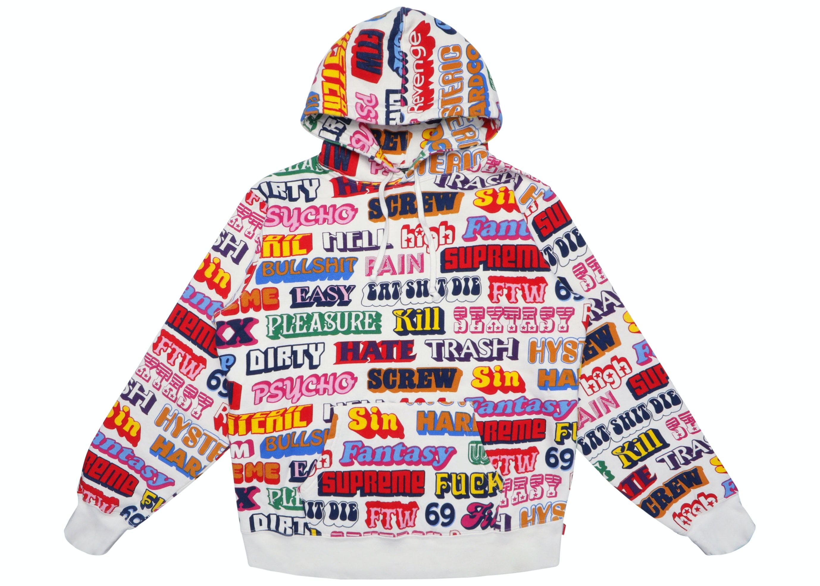 Supreme Hysteric Glamour Text Hoodie White by Stock X