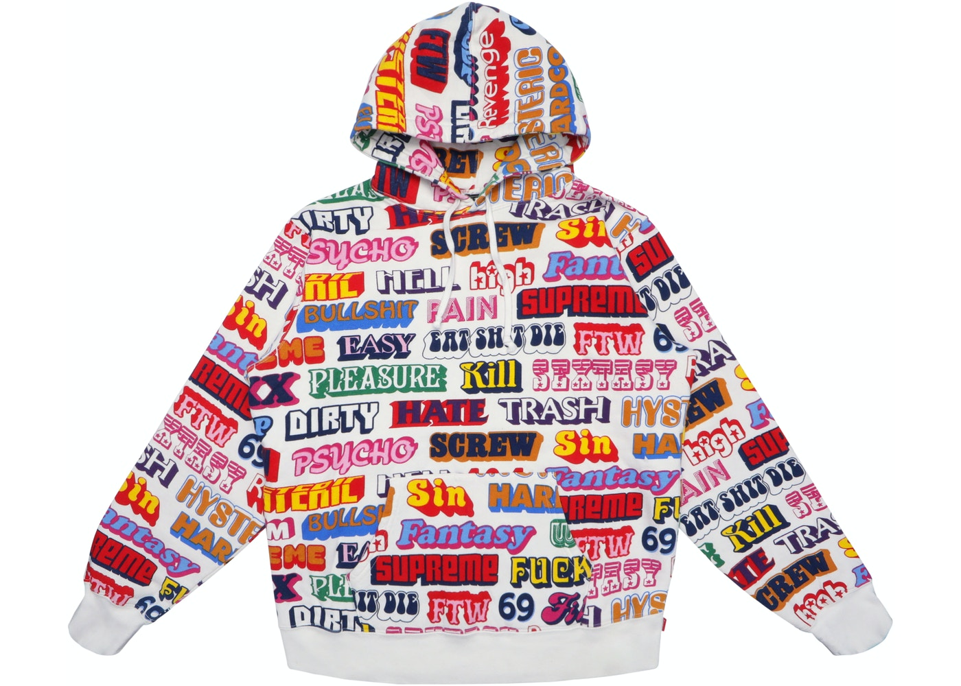 b8d8e07618a1 Supreme Hysteric Glamour Text Hoodie White - FW17
