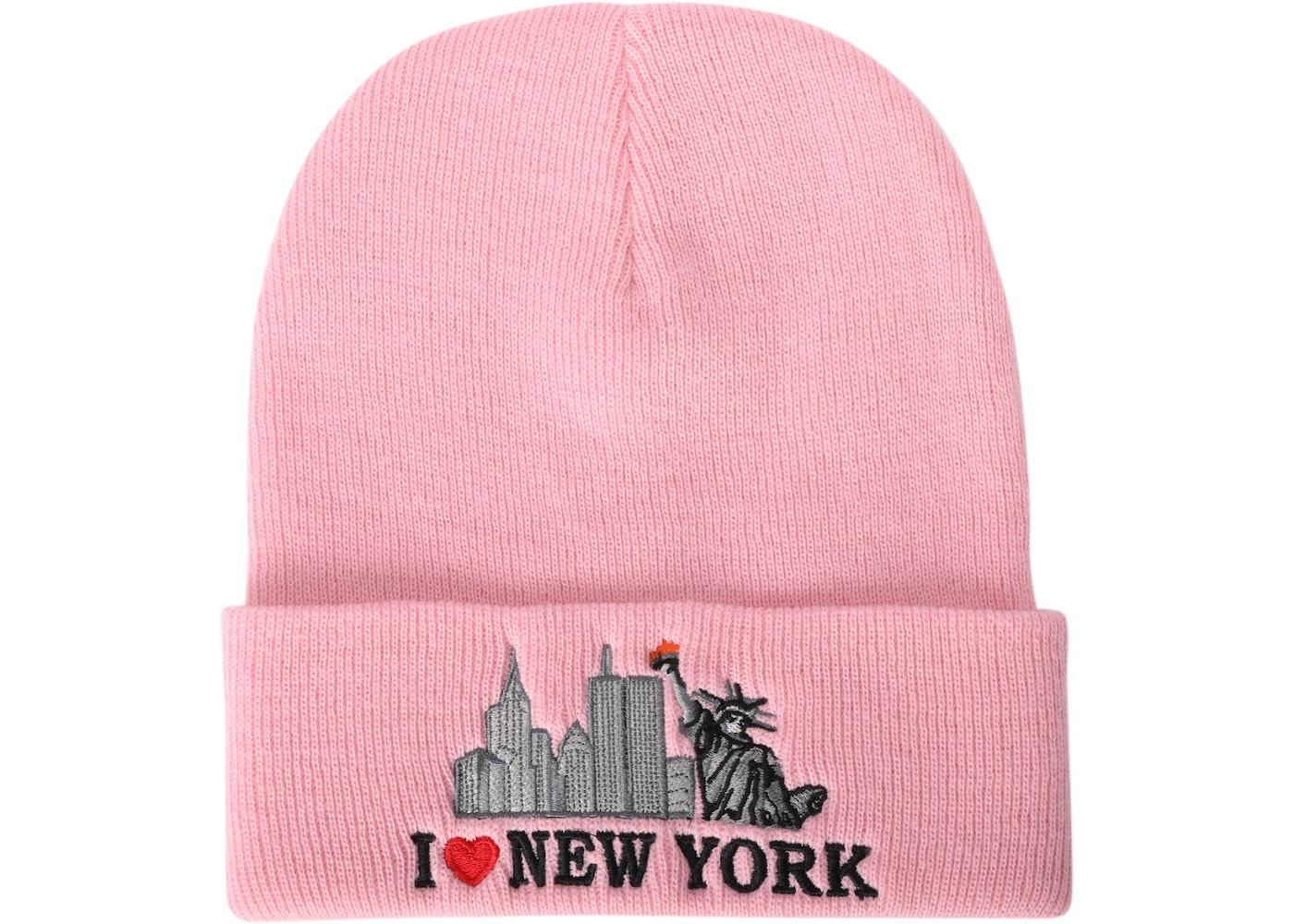 6b62af5bbb911 Supreme I Love NY Beanie Pink - FW17