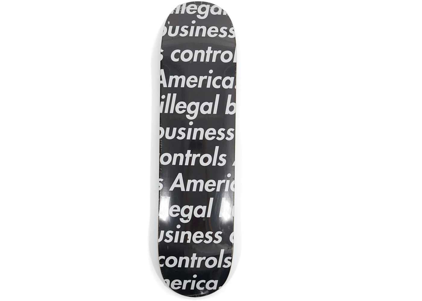 07fd11c4 Supreme Illegal Business Skateboard Deck Black - SS18