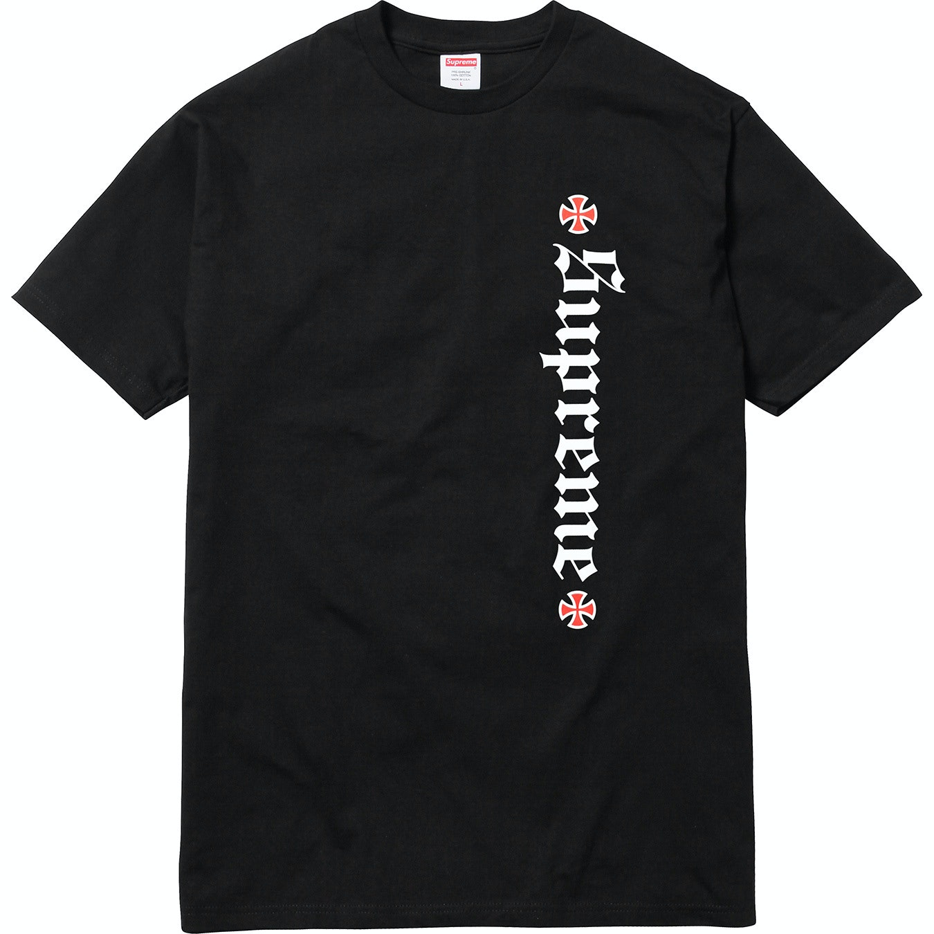 Supreme Independent Old English Tee Black
