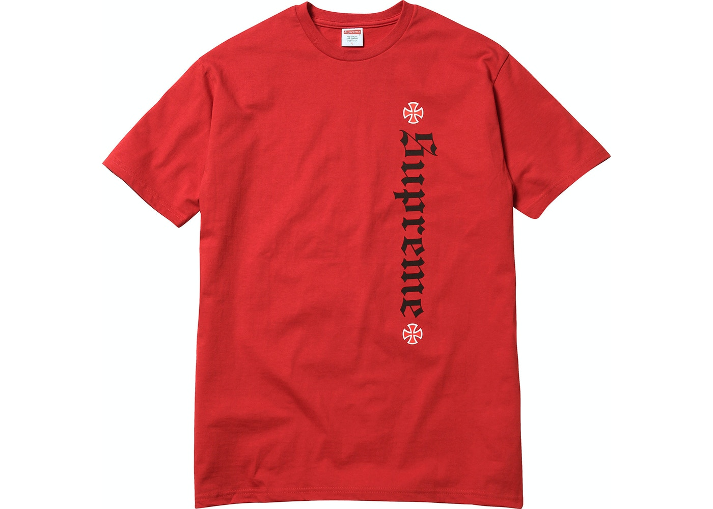 72b938f43027 Supreme Independent Old English Tee Red - FW17