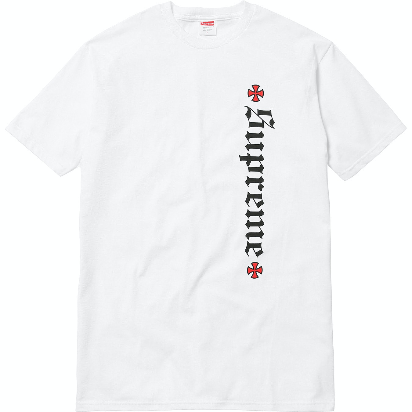 Supreme Independent Old English Tee White