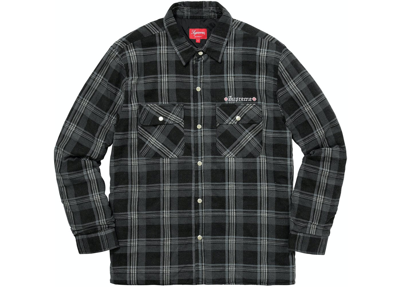 Independent Quilted Flannel Shirt Black : quilted flannel shirt jacket - Adamdwight.com
