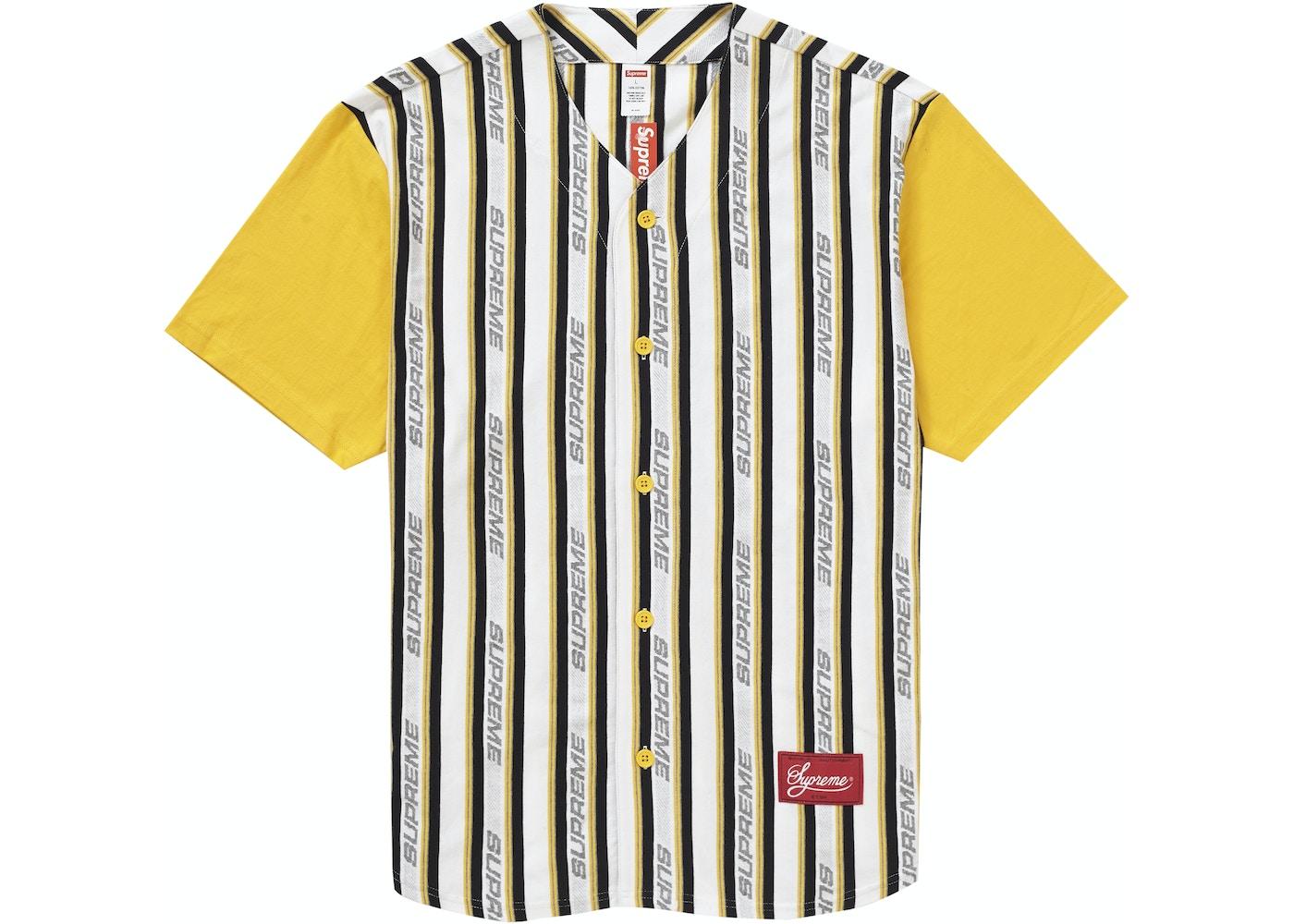 uk availability 6ba61 1ea20 Supreme Jacquard Logo Baseball Jersey White