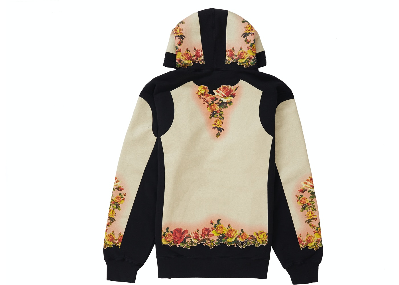 c5c85593d Supreme Jean Paul Gaultier Floral Print Hooded Sweatshirt Black - SS19