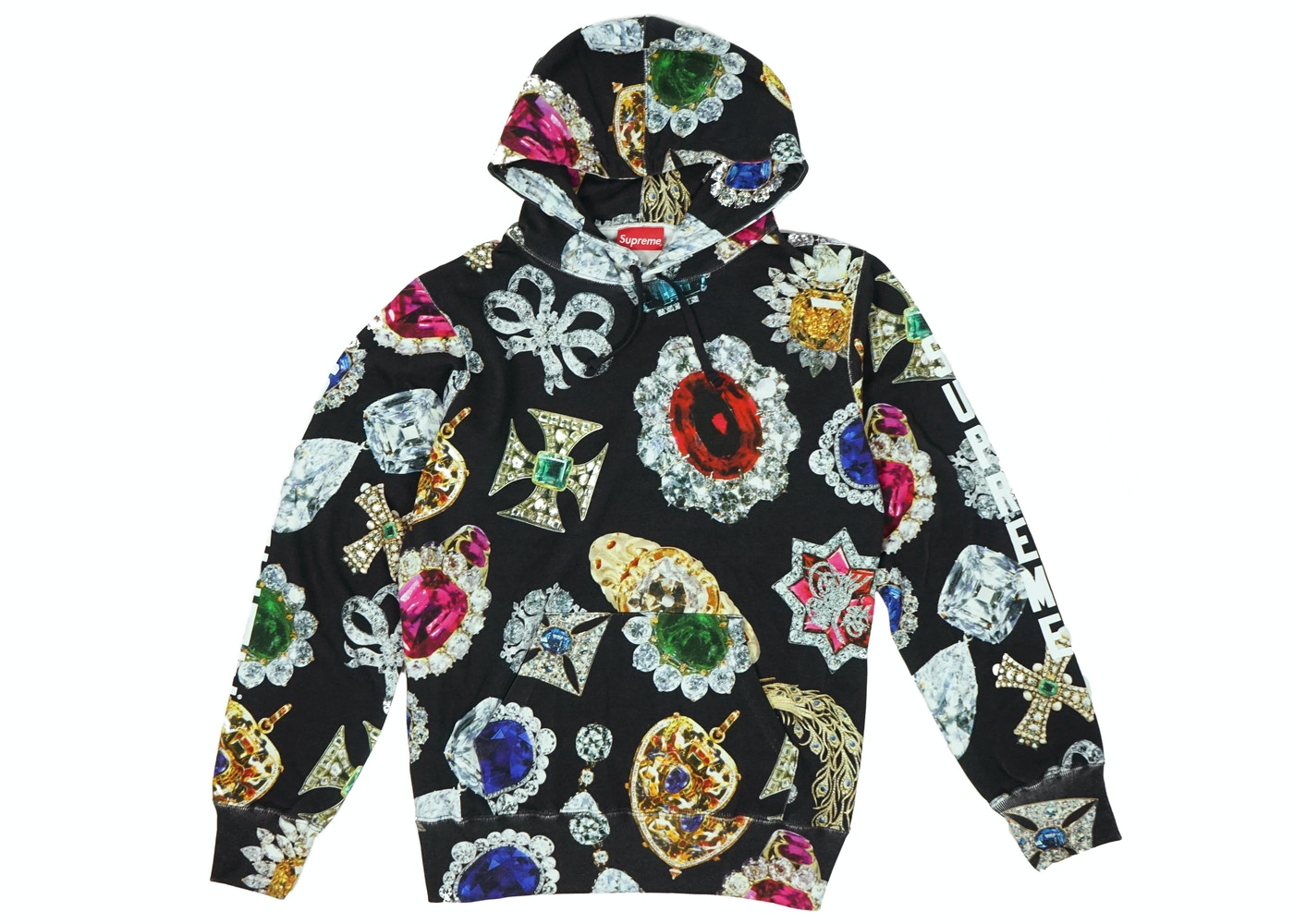 fb7e2de68d09 Supreme Jewels Hooded Sweatshirt Black - FW18