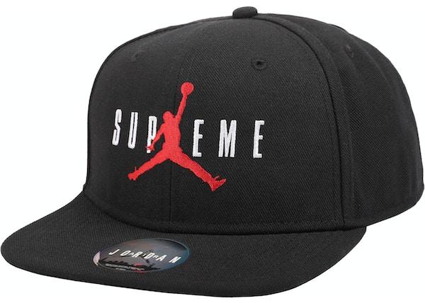 Supreme Jordan 6 Panel Hat Black - FW15 11d8fc0e994