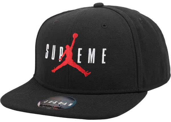 Supreme Jordan 6 Panel Hat Black - FW15 df5422f363b