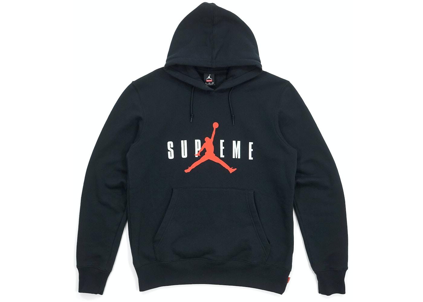 moda najlepszy niesamowita cena Supreme Jordan Hooded Pullover Black