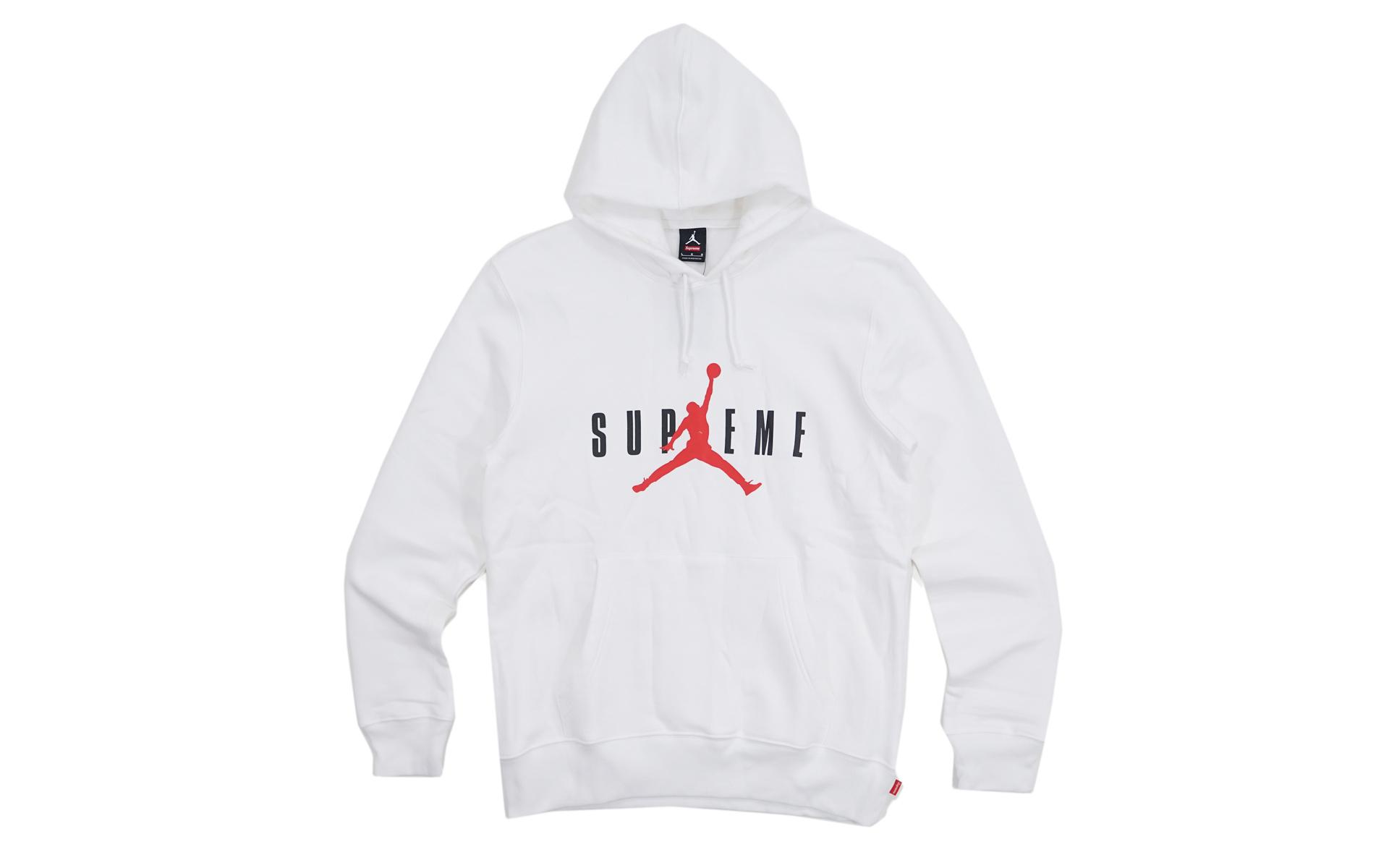 Supreme Jordan Hooded Pullover White - FW15