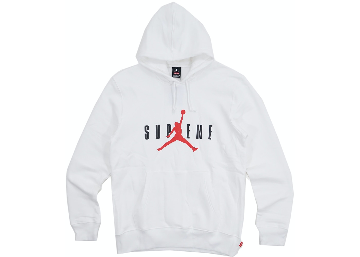 newest a5b1e 32472 Supreme Jordan Hooded Pullover White - FW15