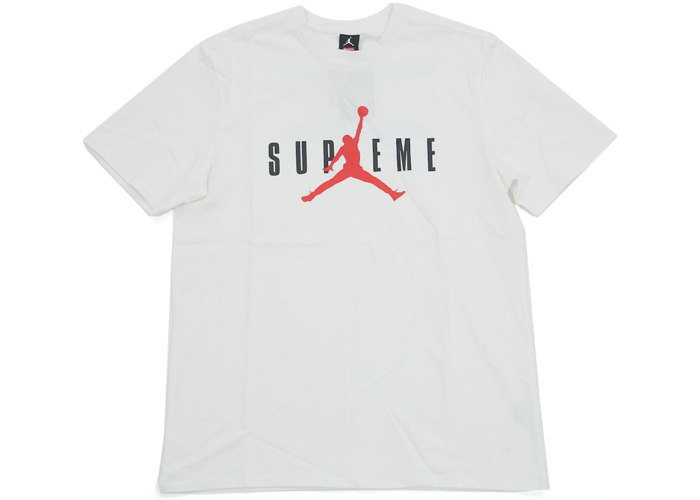 nouveaux styles 59f23 64d59 Supreme Jordan Tee White