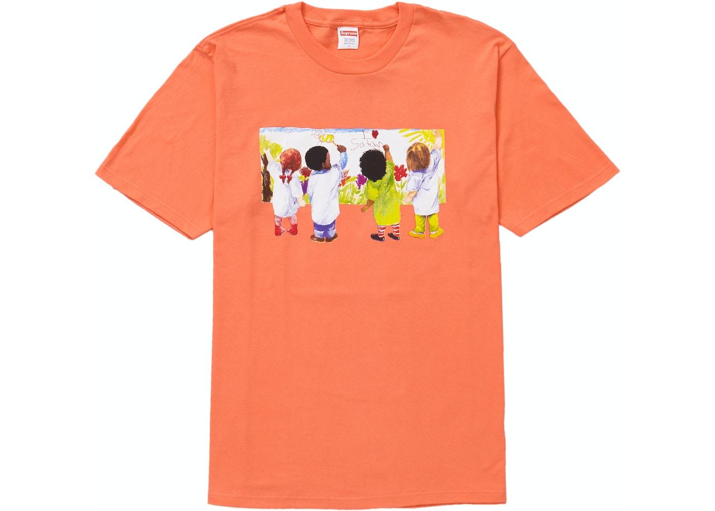c3a4e0ee09a4 Supreme Kids Tee Neon Orange - SS19