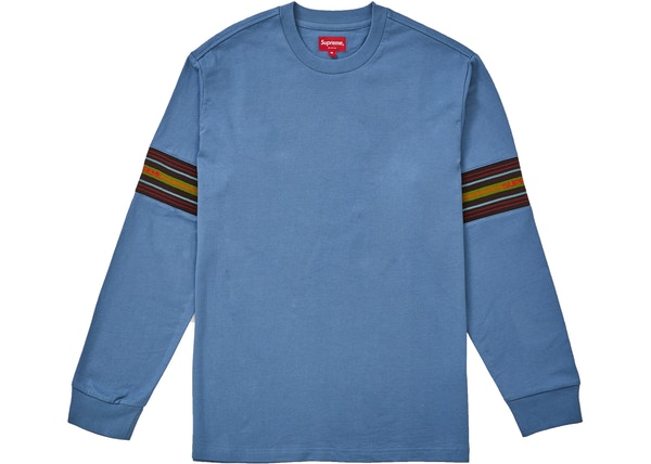 7d5695cd8de0 Supreme Knit Panel Stripe LS Top Slate