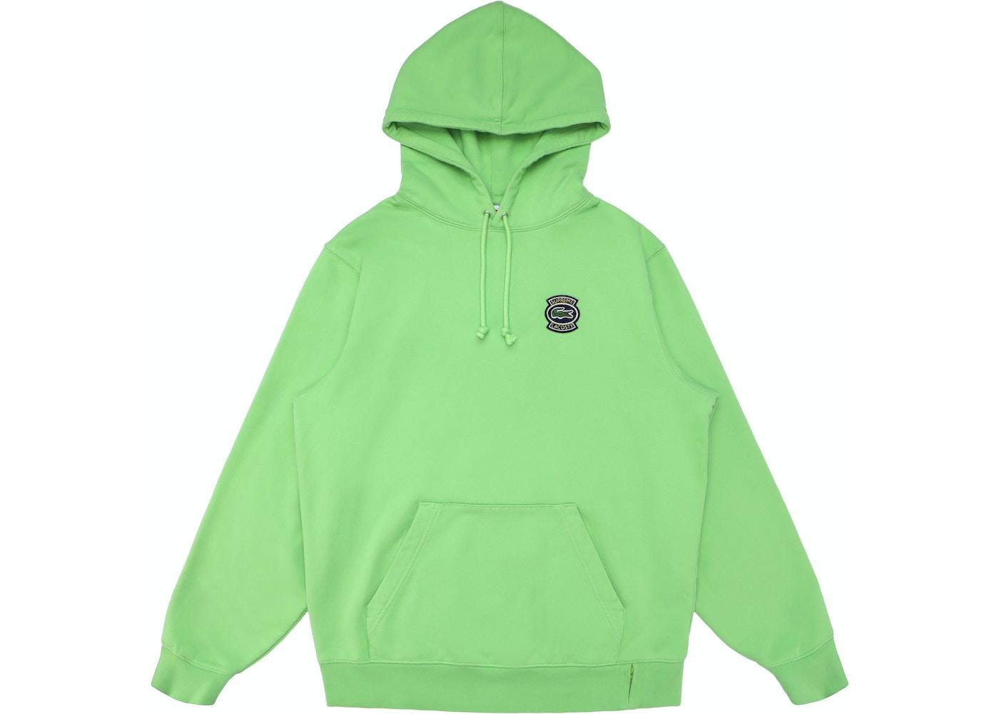 e57201997e47f2 Supreme LACOSTE Hooded Sweatshirt Green - SS18
