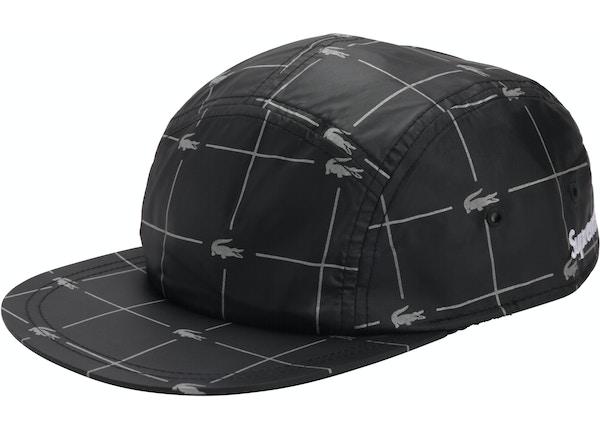3fbcd51a Supreme LACOSTE Reflective Grid Nylon Camp Cap Black