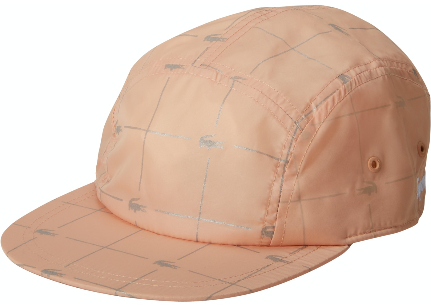 Sell. or Ask. View All Bids. Supreme LACOSTE Reflective Grid Nylon Camp Cap  Peach bb37dba8641