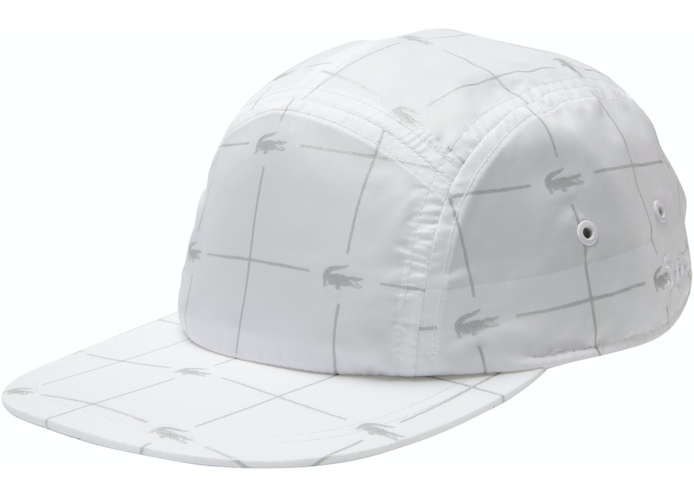 34ffb1fc62d Sell. or Ask. View All Bids. Supreme LACOSTE Reflective Grid Nylon Camp Cap  White
