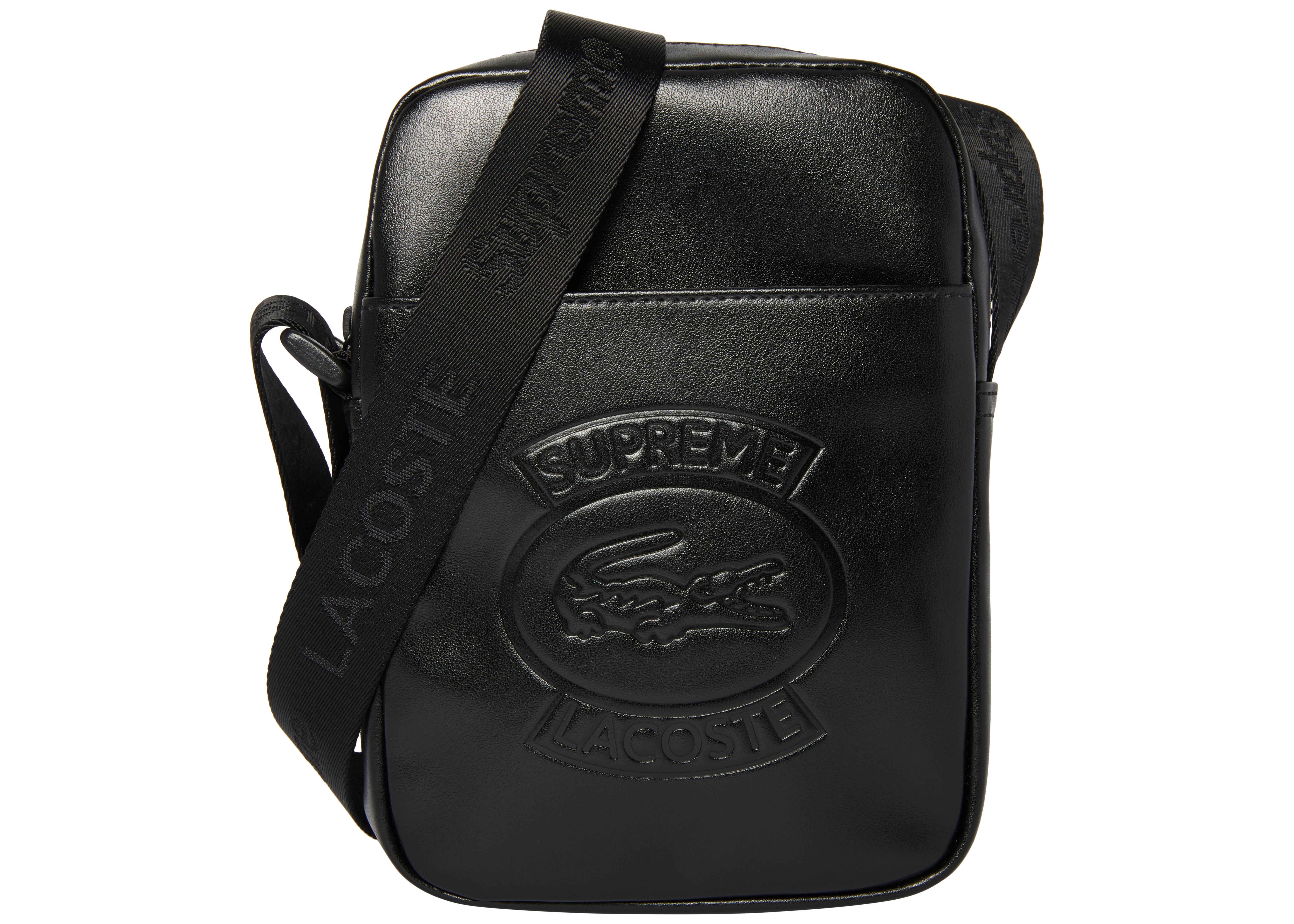 Lacoste Supreme Supreme Lacoste Shoulder Bag Bag Shoulder Supreme Lacoste Black Shoulder Bag Black A35LjcqS4R