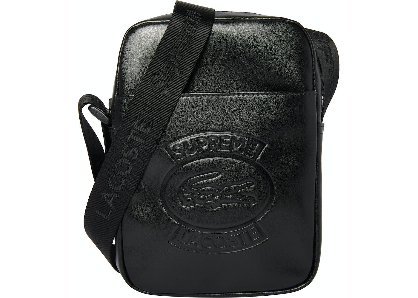 quality design 2baef 12d68 Supreme LACOSTE Shoulder Bag Black