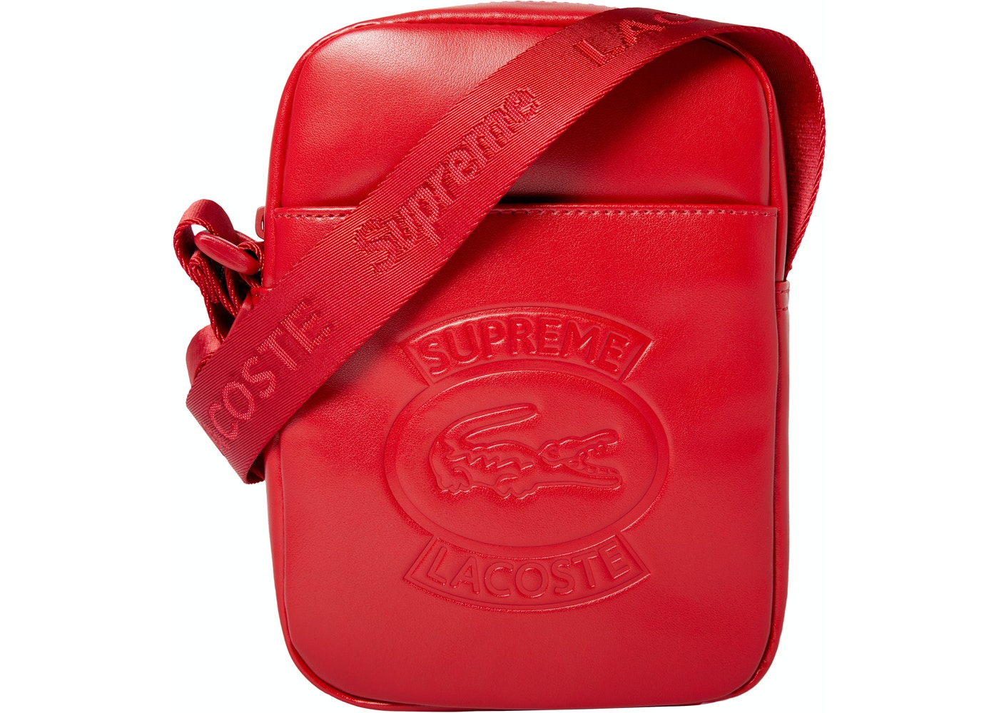 b91cfc39d Sell. or Ask. View All Bids. Supreme LACOSTE Shoulder Bag Red