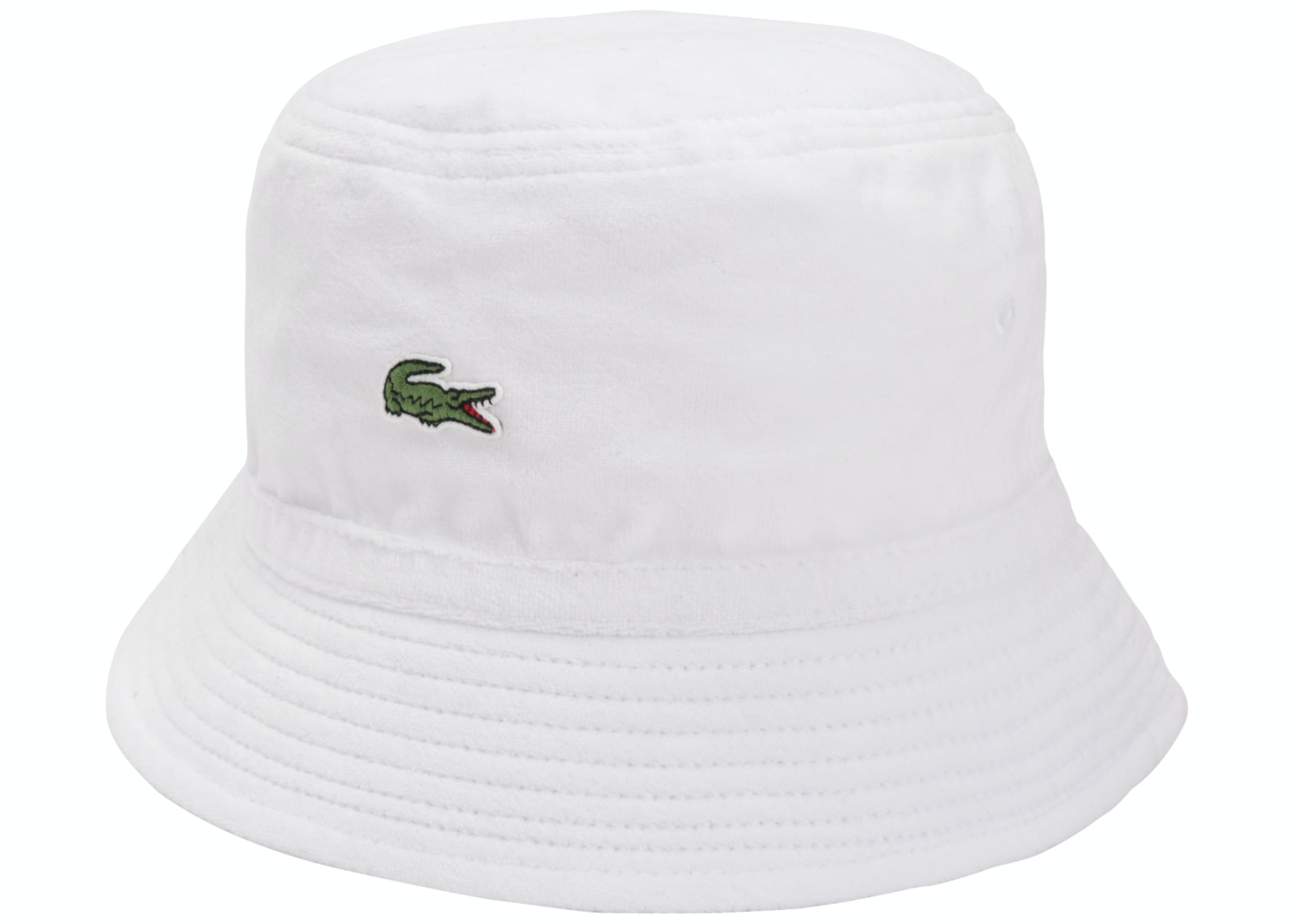 Supreme LACOSTE Velour Crusher White