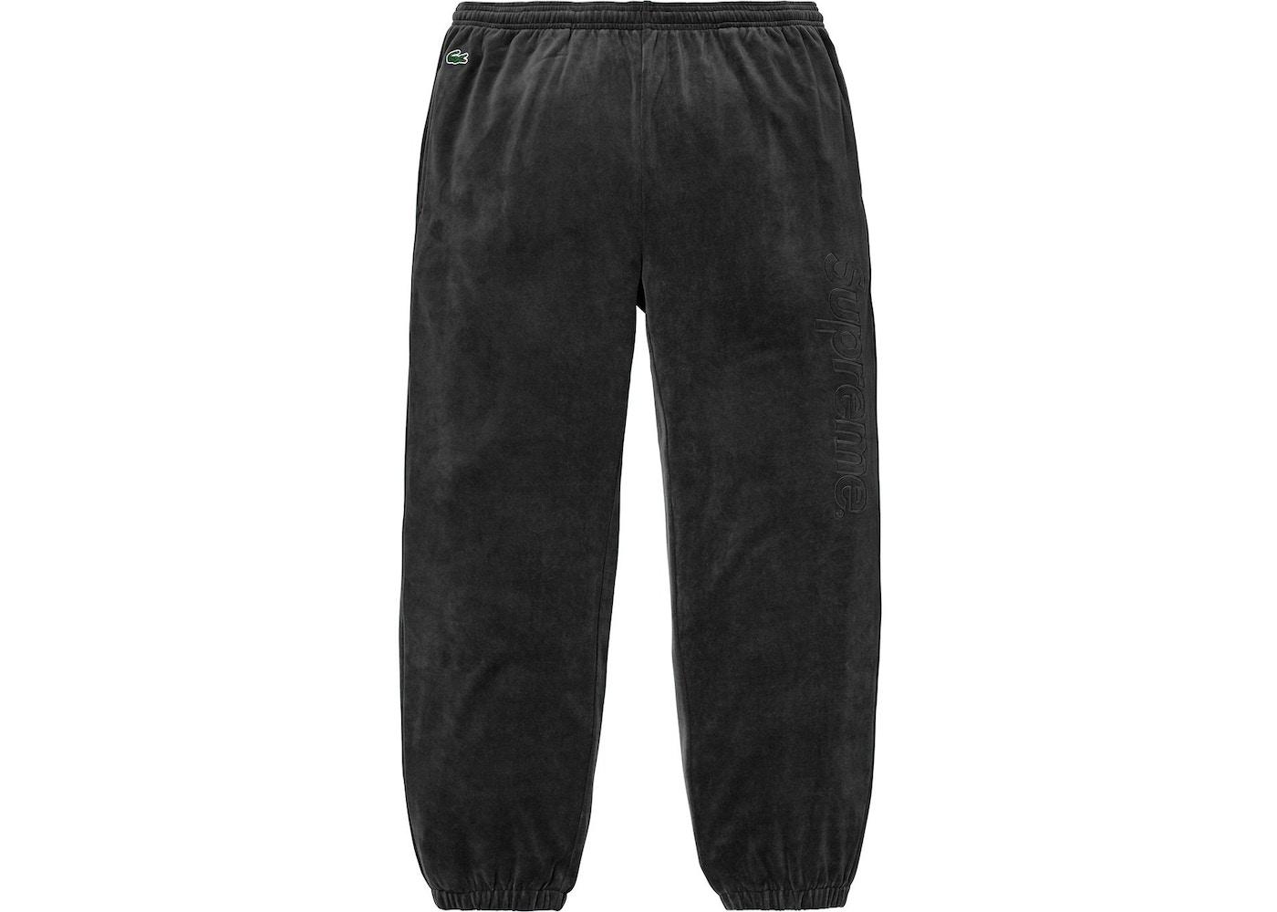 78760a726271 Supreme LACOSTE Velour Track Pant Black - SS18
