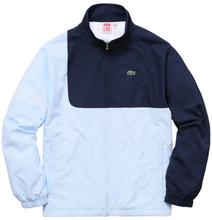 Supreme Lacoste Track Jacket Light Blue  sc 1 st  StockX & Lacoste Track Jacket Light Blue azcodes.com