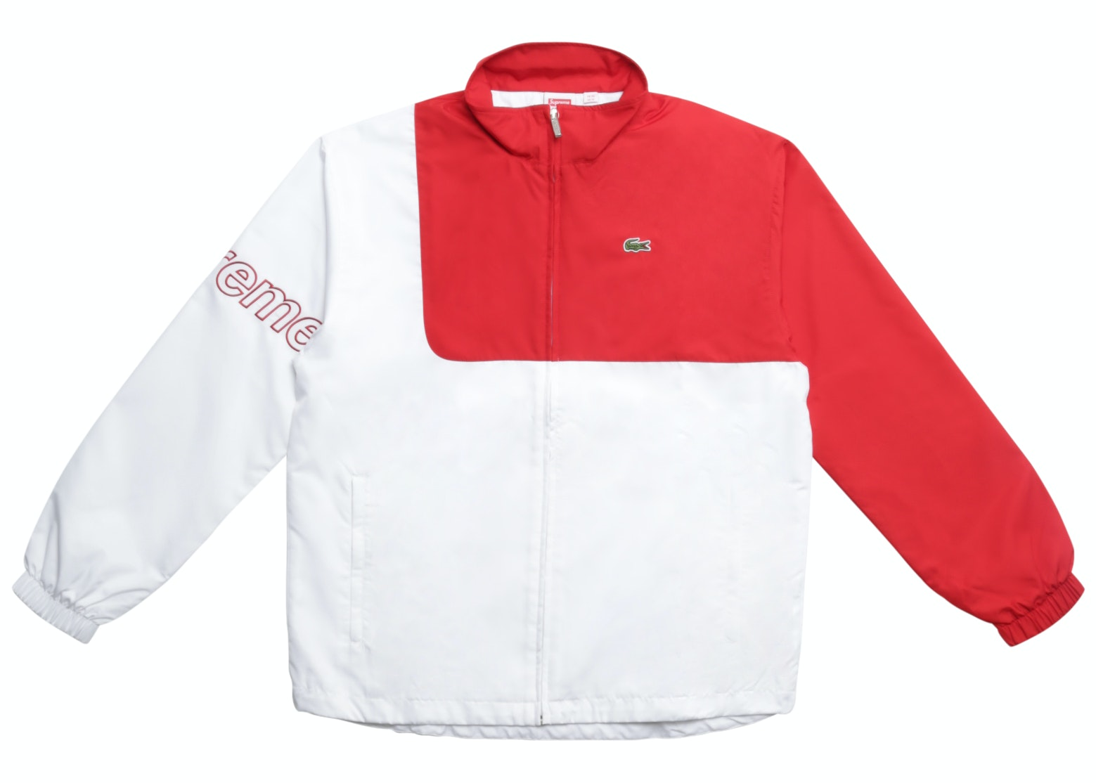 Supreme Lacoste Track Jacket Red