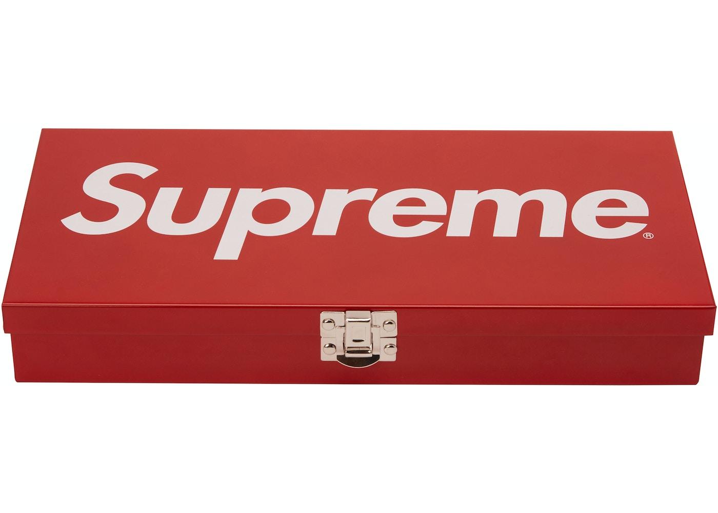 Supreme Large Metal Storage Box Red Ss17