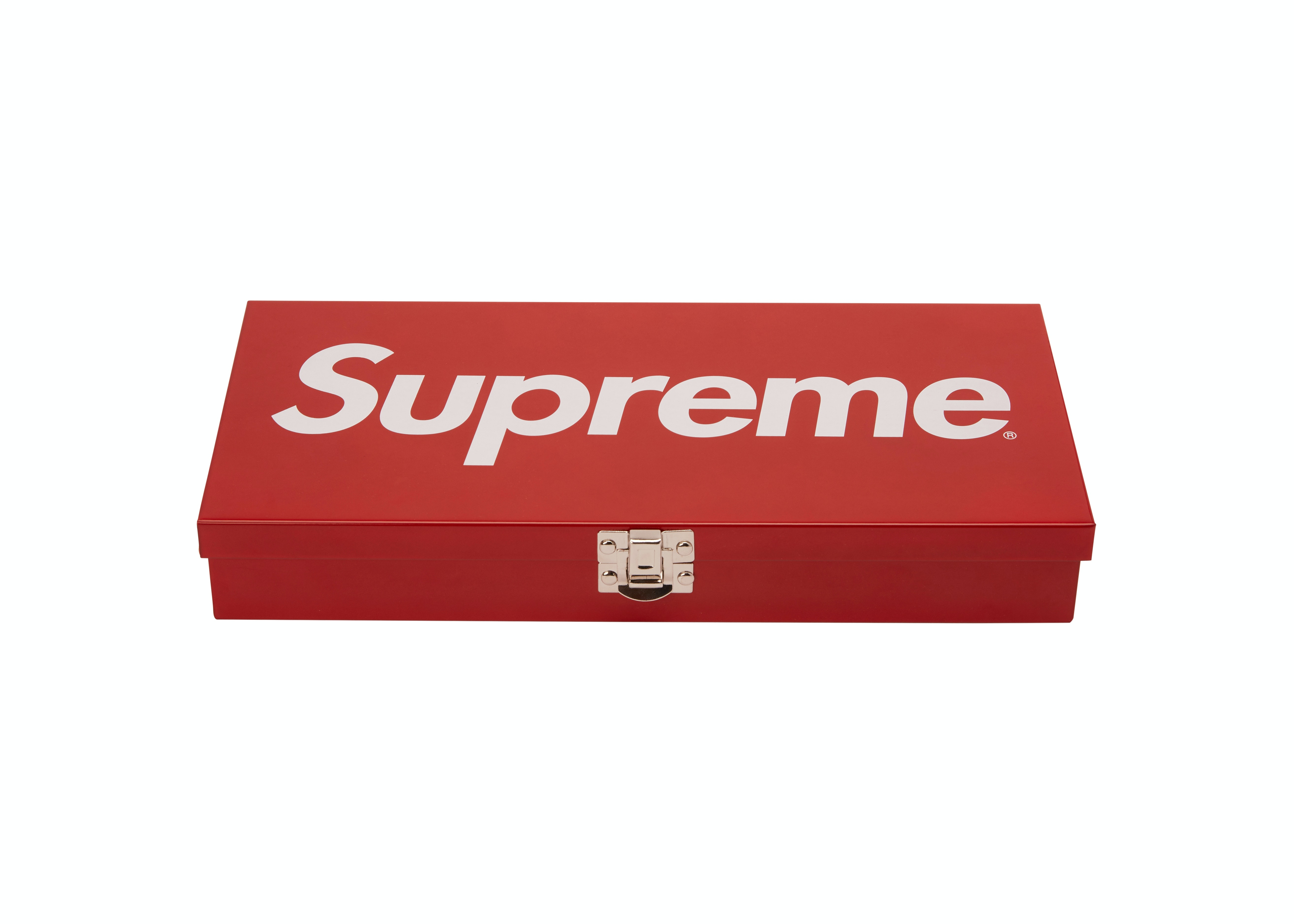 Superieur Supreme Large Metal Storage Box Red