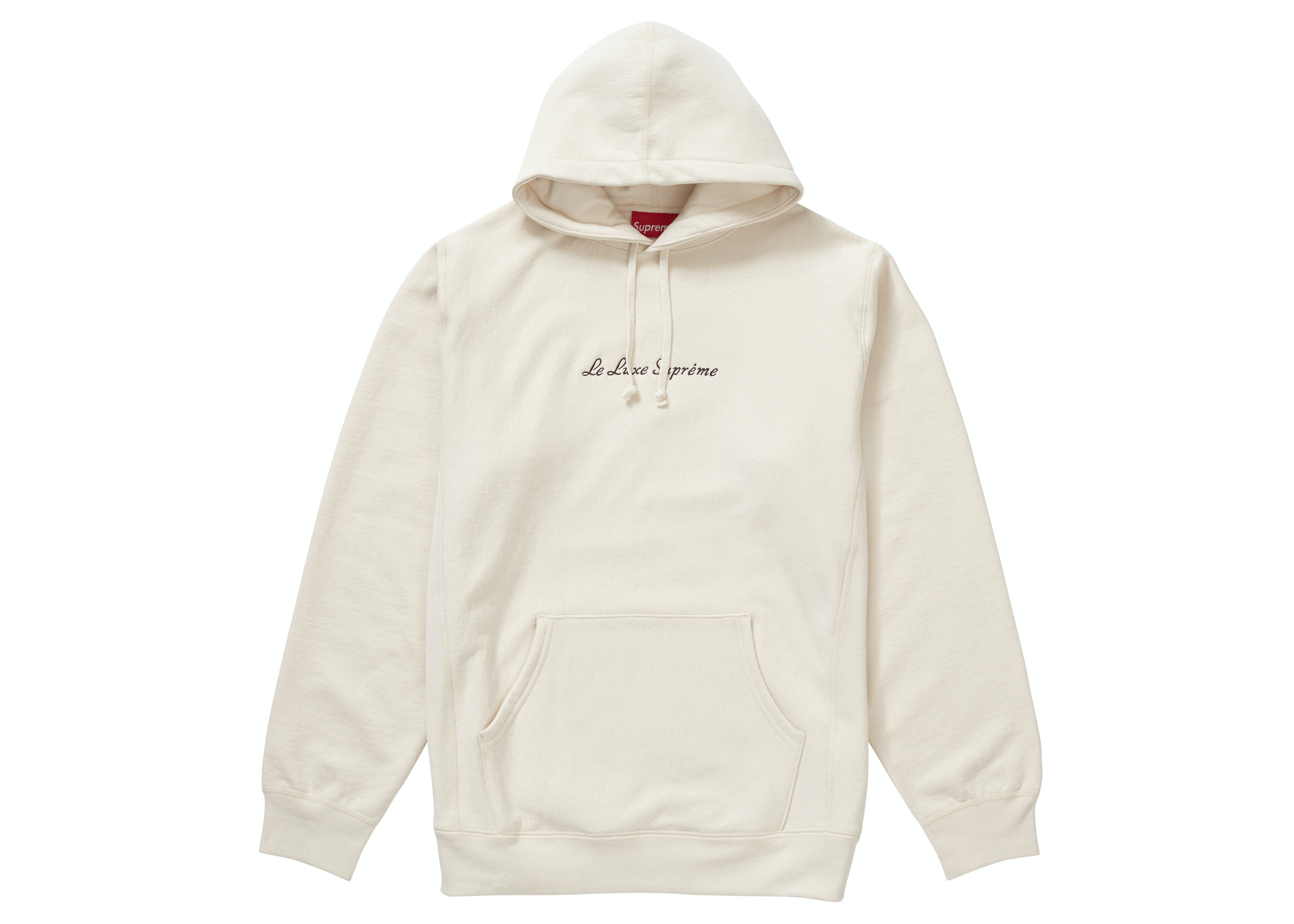 Supreme Le Luxe Hooded Sweatshirt Natural
