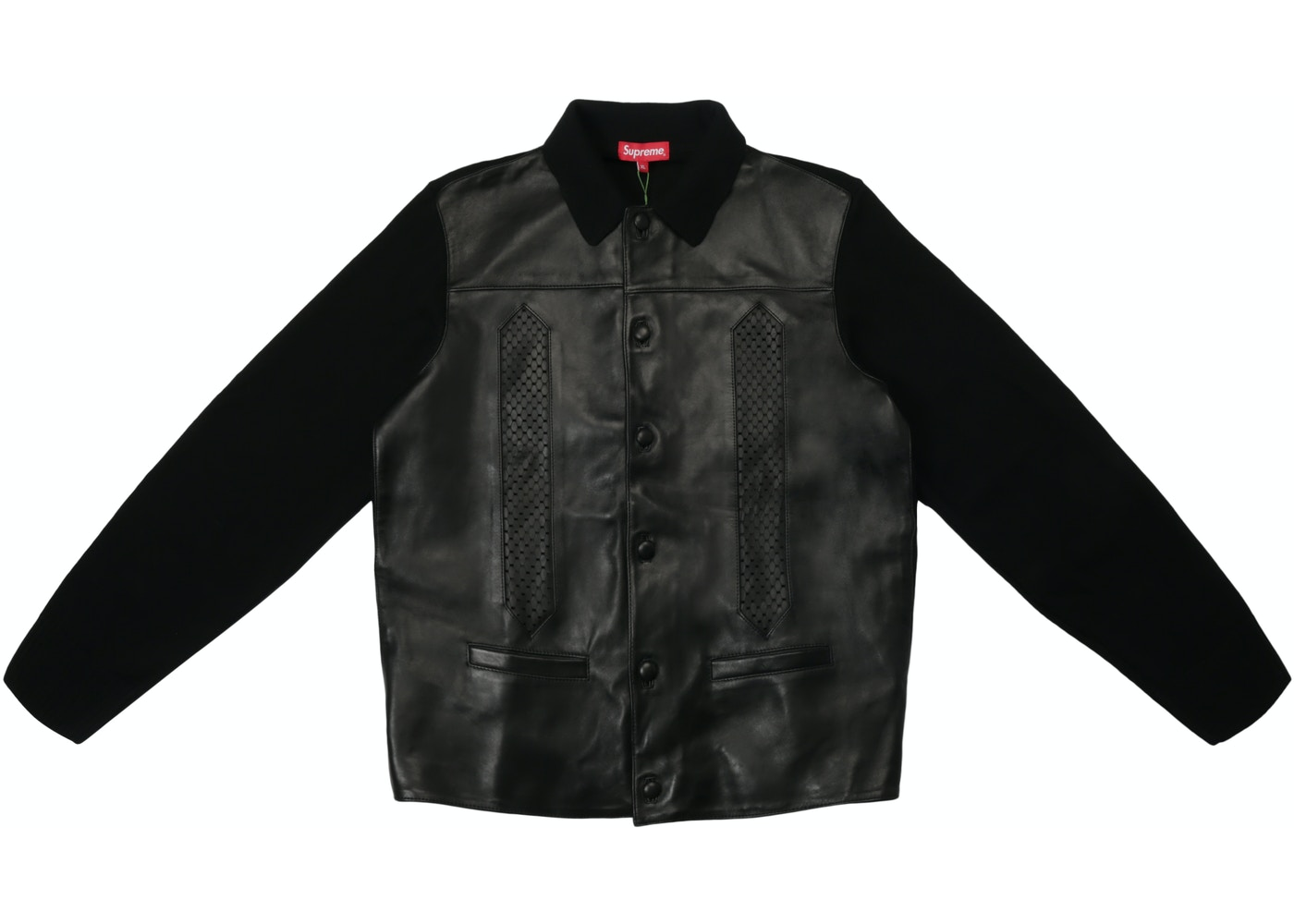 467b2cb88 Sell. or Ask. Size L. View All Bids. Supreme Leather Front Polo Sweater  Black