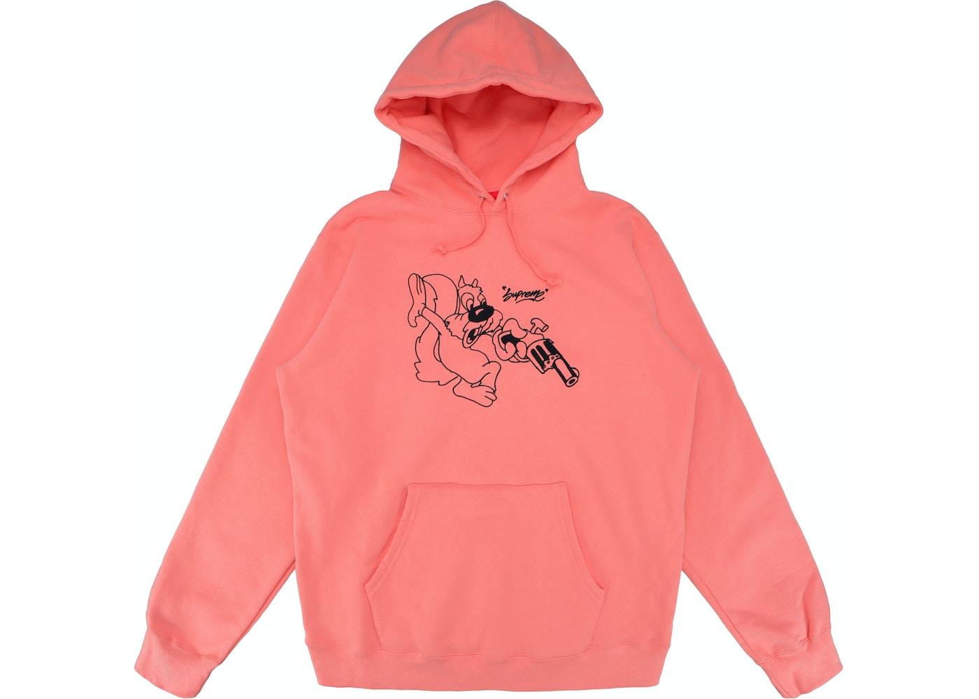 2a7e98097555 Supreme Lee Hooded Sweatshirt Coral - SS18