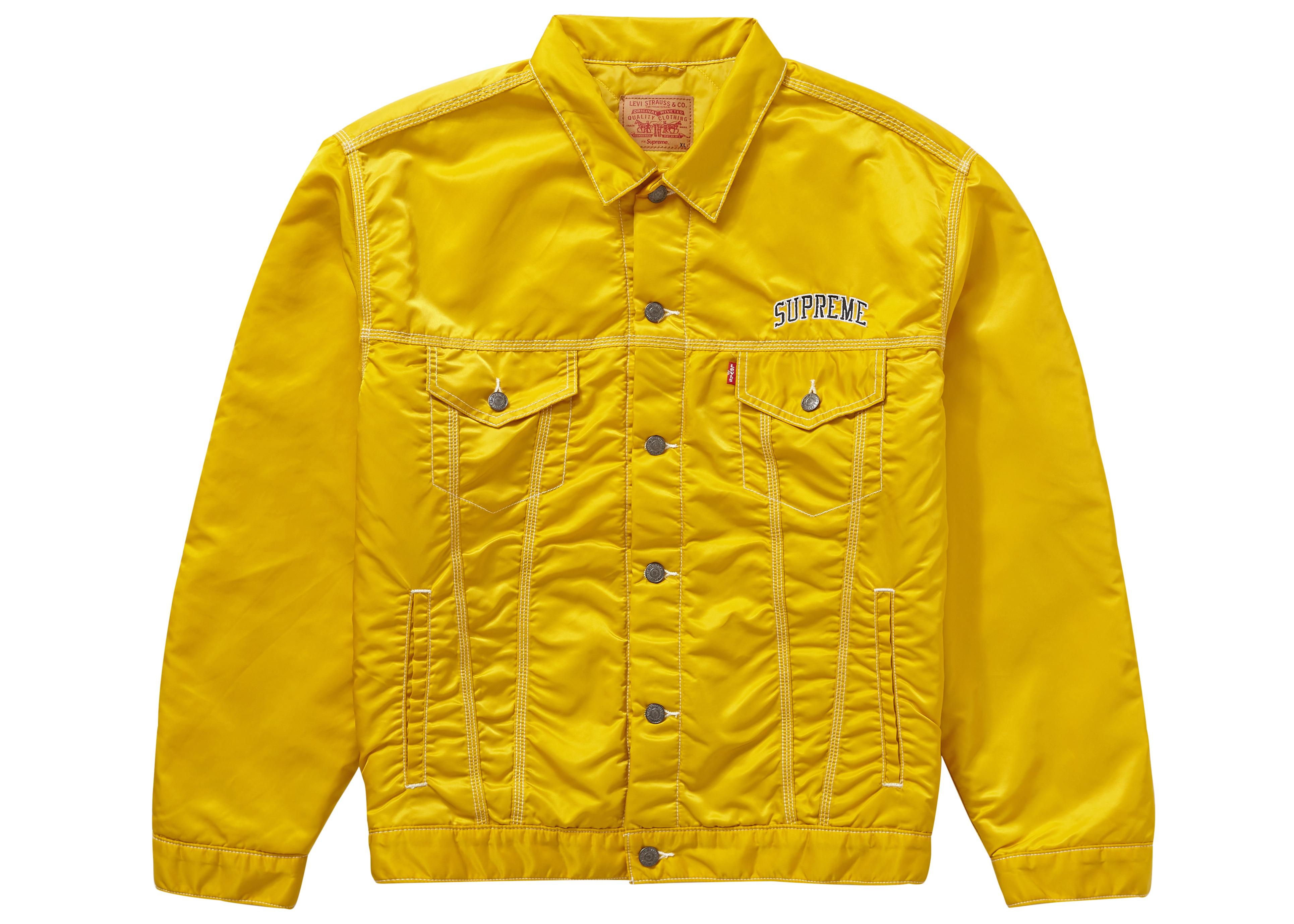 Supreme Trucker Nylon Jacket Levi's Yellow ZiPXku