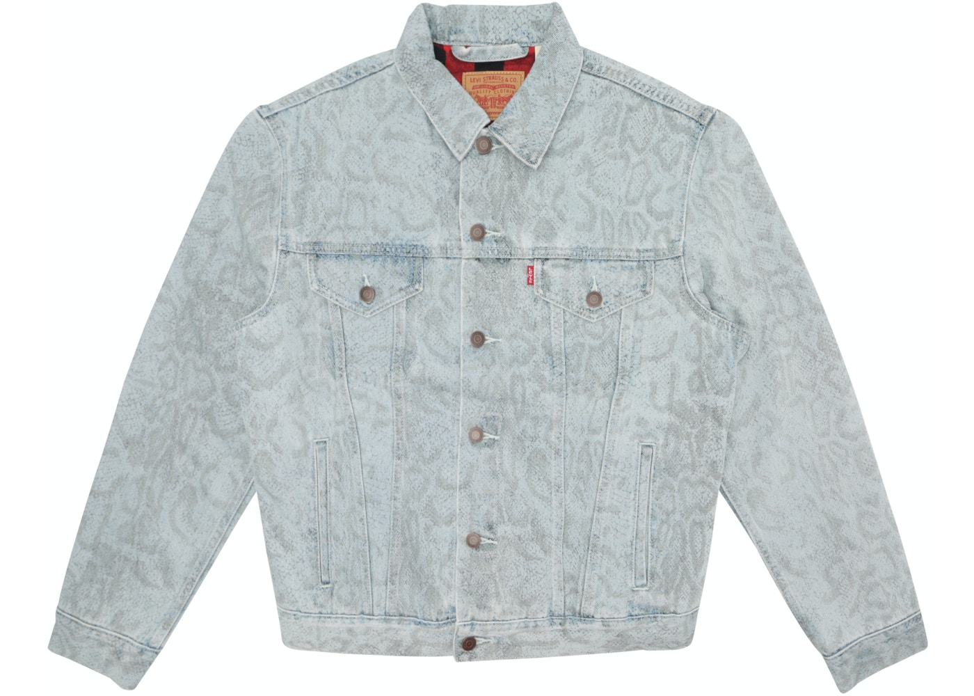 8d3a4511 Sell. or Ask. Size L. View All Bids. Supreme Levi's Snakeskin Trucker Jacket  ...