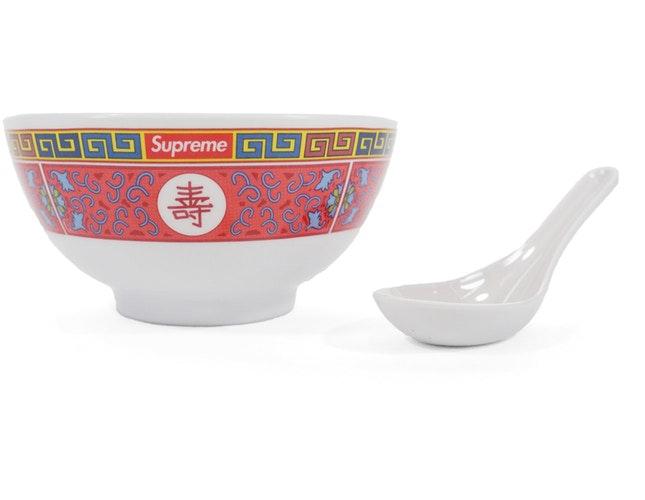 Supreme Longevity Soup Set (Bowl and Spoon) White